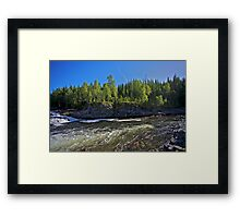 Tight lines  -  You are here my big salmon !!! Brown Sugar Story. Framed Print