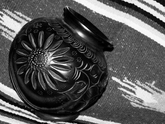 Black Pottery by Lucinda Walter