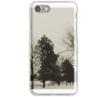 trees in a blizzard iPhone Case/Skin