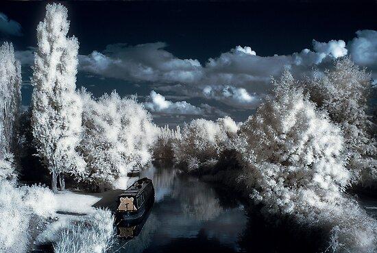 Grand Union Canal, Milton Keynes [IR] by George Parapadakis (monocotylidono)