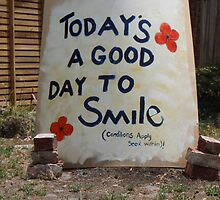 """""""TODAY'S A GOOD DAY TO SMILE"""" by CURRAGE"""