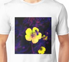 Ultra-violet bee on flower macro Unisex T-Shirt