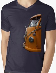Yellow Splitty Mens V-Neck T-Shirt
