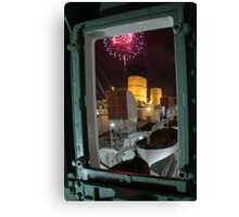 Queen Mary Fireworks 3 Canvas Print