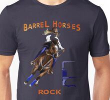Barrel Horses Rock Unisex T-Shirt