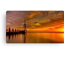 """Enterprize Dawn"" Canvas Print"