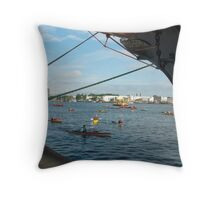 Nautical morning greetings  Throw Pillow