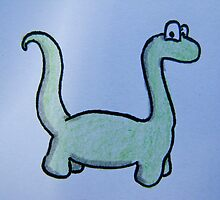 Dino - The Funky Brontosaurus by beverlyAnn