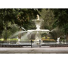Forsyth Square Fountain Photographic Print