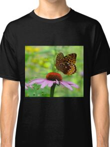 Beautiful butterfly on flower Classic T-Shirt