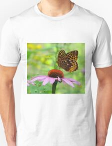 Beautiful butterfly on flower T-Shirt