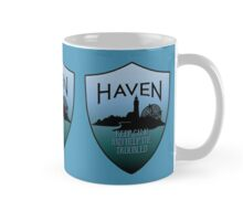 Haven Keep Calm Blue Badge Logo 2 Mug