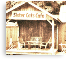 Sister Cats Cafe Canvas Print