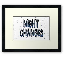 Night Changes - One Direction Framed Print