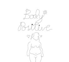 Body Positive Woman Sketch by feministshirts
