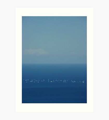 Lake Michigan Sails Art Print
