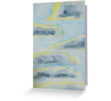 Clouds Stacked Like Pancakes over Salem Greeting Card