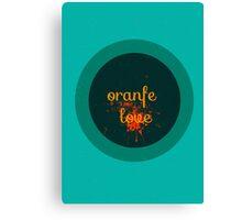 orange love Canvas Print