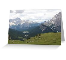 Mountains in Europe Greeting Card