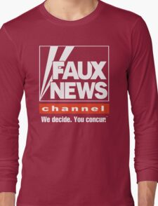 Faux News Channel Long Sleeve T-Shirt