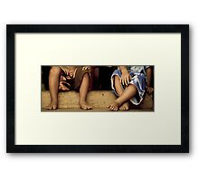 Toes Framed Print