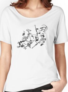 Exploded Bike Parts T-shirt Women's Relaxed Fit T-Shirt