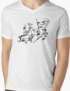 Exploded Bike Parts T-shirt Mens V-Neck T-Shirt