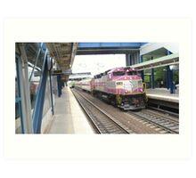 1116 MBTA Commuter Rail Art Print