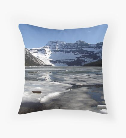 Springtime at Cameron Lake  Throw Pillow
