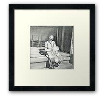 My Grandma Pencil Drawing Framed Print