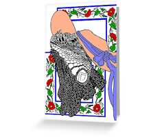 Iguanadonna, The Original Iguana Mama Greeting Card