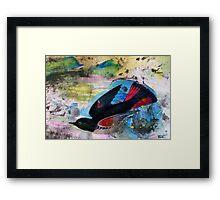 Bird on Blue Framed Print