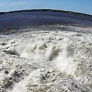 power of water - fisheye view by Cheryl Dunning