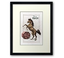 Chinese Zodiac - Year of the Horse Framed Print