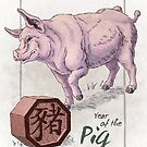 Chinese Zodiac - the Pig by Stephanie Smith