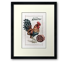 Chinese Zodiac - Year of the Rooster Framed Print