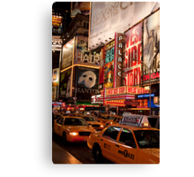 Times Square Traffic Canvas Print