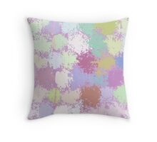 Painted Dots background Throw Pillow