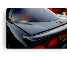 Little Black Corvette Canvas Print