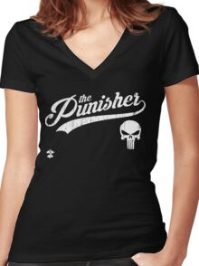 Team Punisher - Cloud Nine Edition (White) Women's Fitted V-Neck T-Shirt