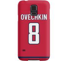 Washington Capitals Alex Ovechkin Jersey Back Phone Case Samsung Galaxy Case/Skin
