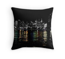 Opposite reflections Throw Pillow