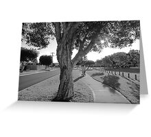 Grey Suburbia Greeting Card