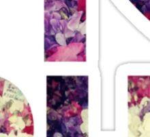 Pi Phi Sorority University College Print Floral Sticker
