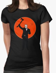 Hockey Mask and a Suit Womens Fitted T-Shirt