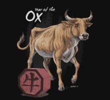 Year of the Ox (for dark shirts) Kids Tee