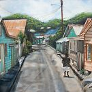 Town in St. Lucia by Rose Mary Gates