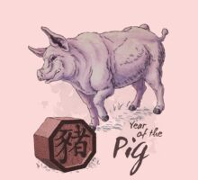Year of the Pig One Piece - Short Sleeve