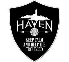 Haven Keep Calm Black Badge Logo by HavenDesign