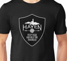 Haven Keep Calm Black Badge Logo Unisex T-Shirt